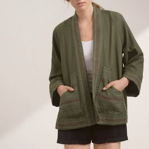 Aritzia Golden TNA Frazier jacket green XXS XS